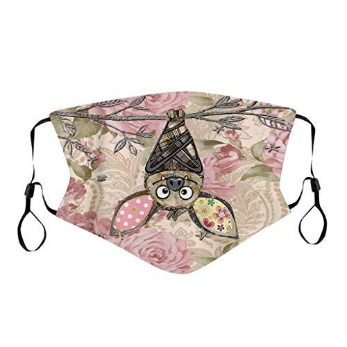 Lulupi Multifunktionstuch Mundschutz Lustig Animal Print Maske Waschbar Wiederverwendbar Stoffmaske Baumwolle Mund-Nasen Bedeckung Atmungsaktiv Tiermotiv Halstuch Schals für Herren Damen