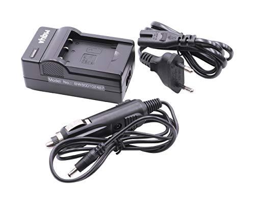 vhbw Cargador Compatible con Nikon CoolPix S3100, S32, S3200, S33, S3300 batería de cámara - Soporte + Adaptador Coche
