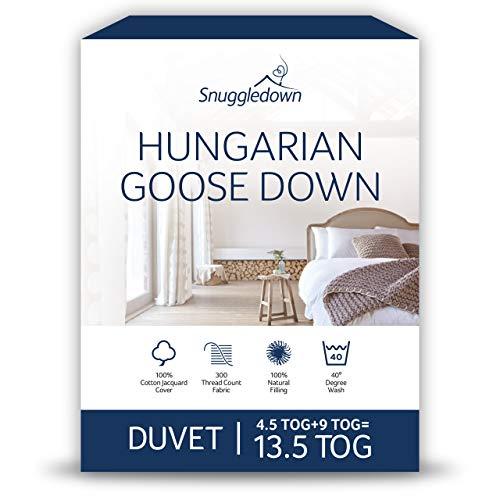 Snuggledown de Ganso húngaro Todas Las Estaciones edredón, 13,5TOG- Super-King