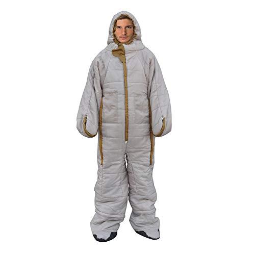 Xigeapg Sacco Un Pelo da Campeggio All\'Aperto Stagione Calda Campeggio per Adulti Escursionismo Arrampicata Inverno Letto Un Pelo Caldo e Antivento 185CM