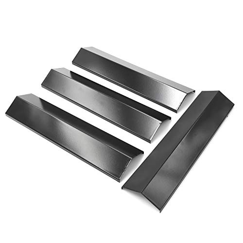 Hongso Gas Grill Heat Plates for Brinkmann 810-3660-S, 810-2511-S, 810-2512-S Replacement Parts, Heat Tent Shield for Uniflame, Backyard Grill, 4-Pack 15 3/8 inch Porcelain Steel Flame Tamer,PPB311