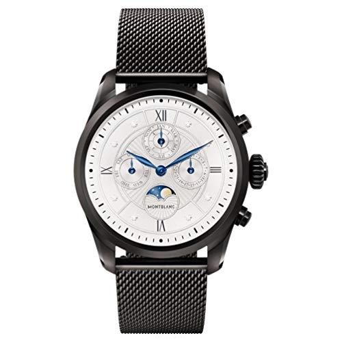 Montblanc Summit 2 Smartwatch 119723 Schwarz und Schwarzes Milanaise-Armband