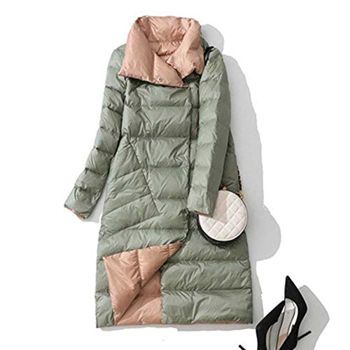 2019 heißer Neue Double Side Damen Winter DaunenjackeLange Mode Zweireiher Mantel weibliche weiße Ente Daunenparka