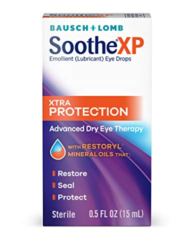 Bausch + Lomb Soothe XP Lubricant Eye Drops, Extra Protection Formula, 0.5 Ounce/15 ml