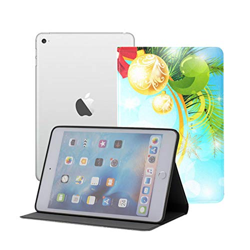 Compatible for iPad Mini 1/2/3 Case, Slim Fit All Round Protect Cover Bright Christmas Stand Angles with Auto Sleep/Wake