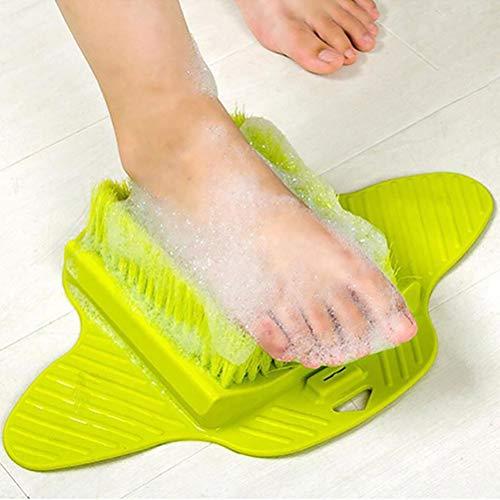 Suszian Masseur nettoyant pour Les Pieds, Brosse de Massage pour la Douche Brosses pour Les Pieds Brosse pour Les Pieds Scrubber Spa Feet Remover Bros