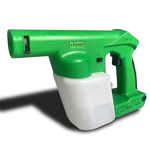 N\A TPSHKE Cordless Electrostatic Handheld Sprayer Green Professional Hand Held Electrostatic Spray Gun (16.9 Oz Tank)