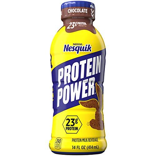 Nestle Nesquik Protein Plus Milk Plastic Bottles - (Chocolate), 14 Fl Oz (Pack of 12)
