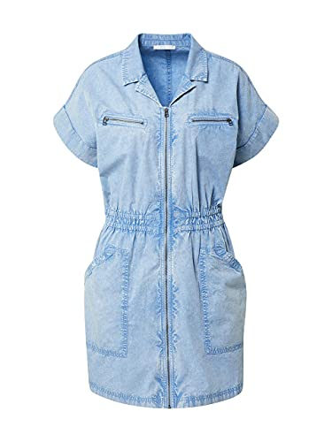 edc by Esprit Damen Esprit Kleid, Blau (Light Blue 440), 42