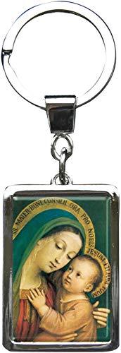 """Llavero métalico de primera calidad en la forma rectangular""""Virgen María"""""""