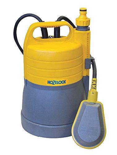 Hozelock FLOWMAX 4500 Pompe d'Evacuation 2-en-1, Jaune/Gris, 31,5 x 18,5 x 18,5 cm