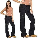FCWJHNTSL Pantalon de Cargaison lâche Femmes Fashion Streetwear Militaire Armée Militaire Pantalon Pantalon Pantalon Jeans-Color3_XXL