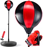 LAUS Punching Bag for Kids with Boxing Gloves | 3-10 Years Old Adjustable Kids Punching Bag with Stand | Boxing Bag Set Toy for Boys & Girls