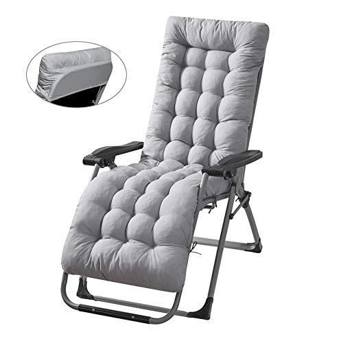 bellizimo Sun Lounger Cushion Pads Portable Garden Patio Thick Relaxer Chair Seat Cover for Travel Holiday Garden Veranda Indoor Outdoor (1Pcs, Grey)