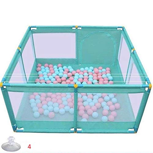 unknow 22 sq ft Blue Baby Play Mat Thick with Breathable Mesh,4 Panel Ball Pit Balls for Activity Center