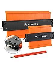 JACKMEND Prowork Aftekenhulp 25&12CM met slot voor DIY Projecten / Laminaat / Plinten / Parket / Tapijt / Tegel - Profielmal met Slot - Profielmeter - Profielaftaster - Meetinstrument - Contourmallen Schuifmaat