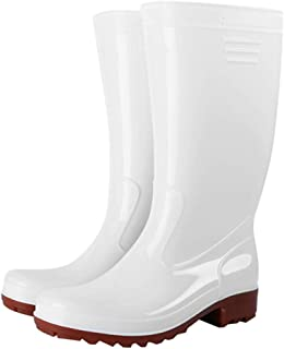 Mens Waterproof Rubber Ankle Rain Boots Festival Wellington Rain Snow Boots