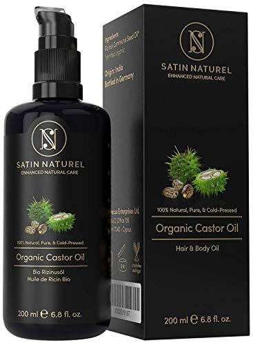 The WINNER 01/20* ORGANIC Castor Oil Vegan + Cold-Pressed for Eyelashes, Hair & Skin Care & Healthy Nails - 200ml Light-Protection Glass Bottle - 100% Pure, Natural, & Native – Natural Cosmetics