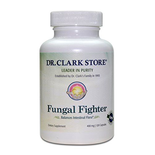 Dr. Clark Store Intestinal Cleanse Fungal Fighter Dietary Supplement - Antifungal Formula Encourages Stomach & Promotes Digestive Health - 400mg 120 Capsules