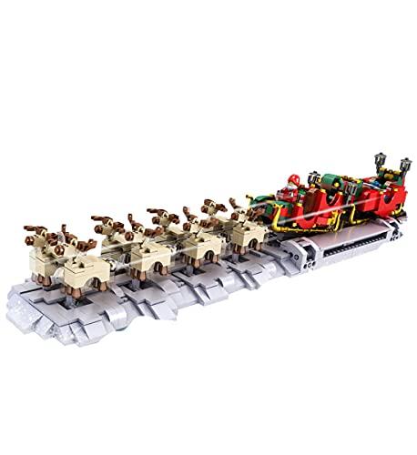 Modelo adicional de ladrillos de Navidad compatible con Lego 10015Winter Holiday Train 10015, MOC Creative Building Toy,(1318PCS)