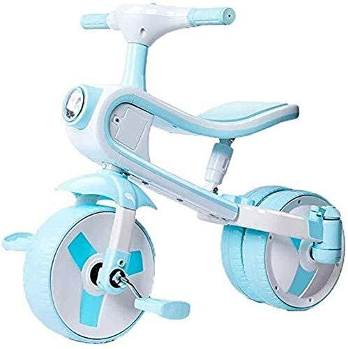 Pkfinrd 2 in 1 kan rijden en glijden, driewieler geschikt voor kinderen leeftijd 2-5-baby vouwen driewieler of verjaardagscadeau, veilig driewieler