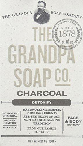 Grandpas Soap Co Face & Body Bar Soap, Charcoal, 4.25 Oz