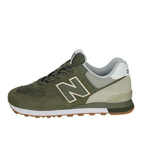 New Balance 574, Zapatillas Hombre, Nettle Green, 44 EU