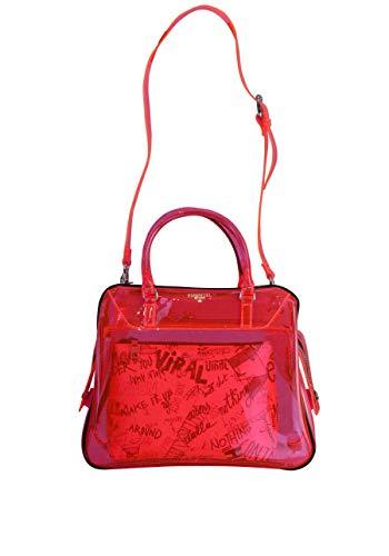 Essentiel Antwerp Shopper Tasche VAROUSKA durchsichtig Zipper pink