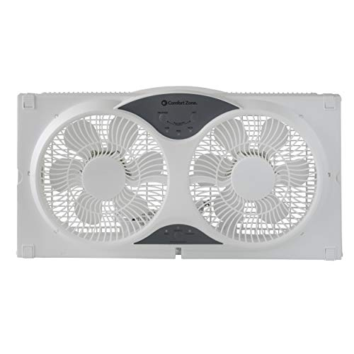 Comfort Zone Reversible Twin Window Fan