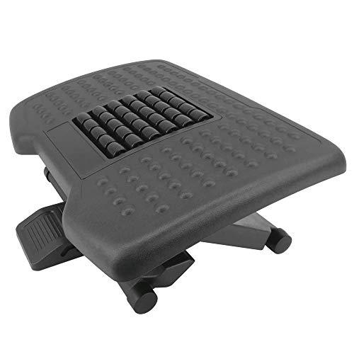 PrimeMatik - Poggiapiedi con Piattaforma Regolabile in plastica Nera 455 x 330 mm 3 Livelli