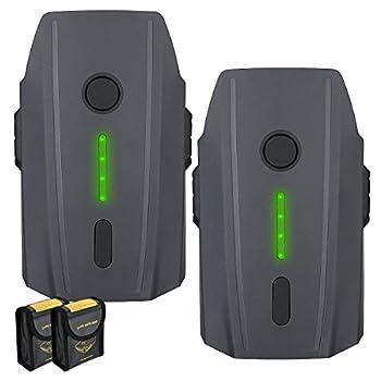 Powerextra Mavic Pro Battery 2-Pack 11.4V 3830 mAh LiPo Intelligent Flight Battery + Battery Safe Bag Replacement for Mavic Pro & Platinum & Alpine White Drone  Not Fit for Mavic 2
