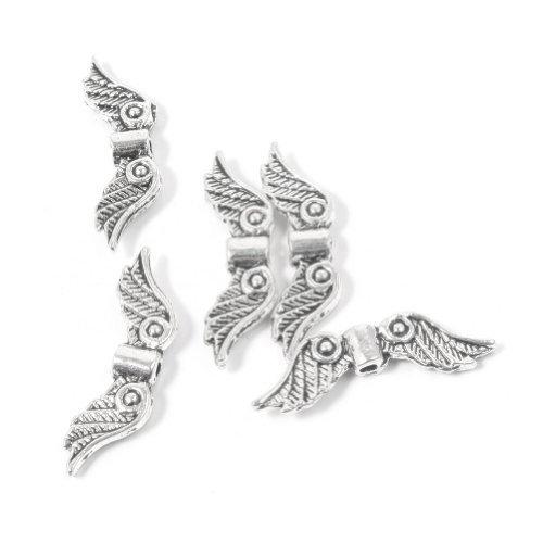 Sophisticat DIY Aleación collar pulsera Accesorios Cuentas de ojal de ala de Angel