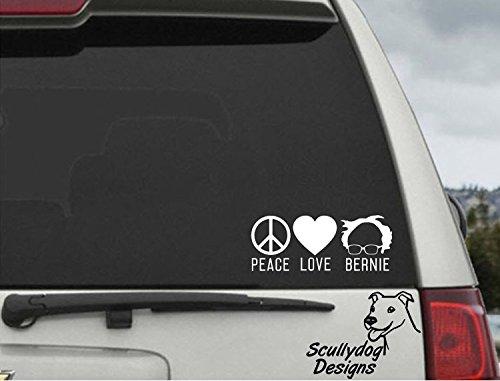 Celycasy Peace – Love – Bernie Kampagne Wahlpräsidenten – Bernie Sanders – Auto-Fenster-Aufkleber