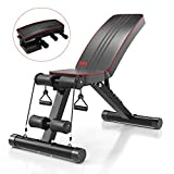 Yoleo Adjustable Weight Bench - Utility Weight Benches for Full Body Workout, Foldable Flat/Incline/Decline FID Bench Press for Home Gym