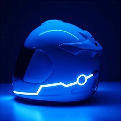 MotorOctane LED Helmet Light Strip with 3 Modes Flashing Night Bike Motorcycle Riding Signal Sticker by Urban Festivities (Color as per Availability)