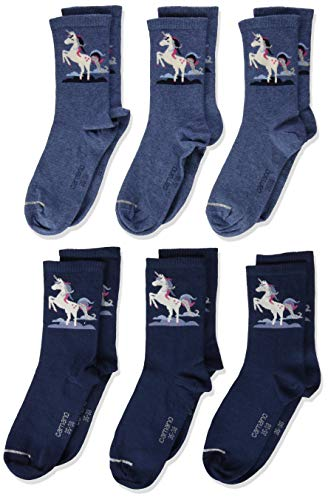 Camano Jungen 1106022000 Socken, Blau (Blue 5801), 35-38 (Herstellergröße: 35/38) (6er Pack)