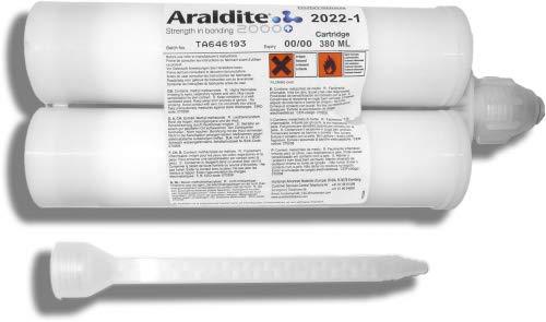 Araldite 2022-1 | 380 ml Doppelkartusche mit ZMS | Huntsman | Zwei Komponenten 2K Klebstoff Kleber | Klebstoffkartusche | Epoxidharzkleber Epoxidharz Epoxidkleber Epoxidklebstoff Epoxidharzklebstoff