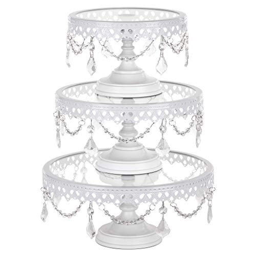 Set of 3 Crystal Round Cake Stands