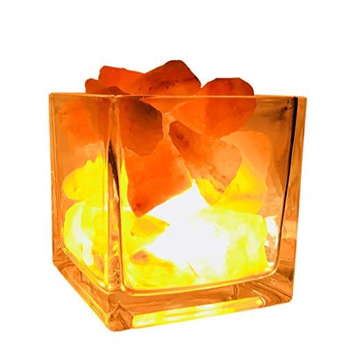 Luminaires & Eclairage/Luminaires intérieur/EC Lampe de sel carrée en Cristal Lampe himalayenne Lampe de Nuit Naturelle à LED Lampe de Chambre à Coucher créative Lampe à ions négatifs en Cristal d