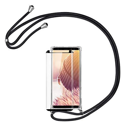 Handykette Handyhülle mit Band für Samsung Galaxy S8 Cover - Handy-Kette Handy Hülle mit Kordel Umhängen -Handy Halsband Lanyard Case/Handy Band Halsband Necklace