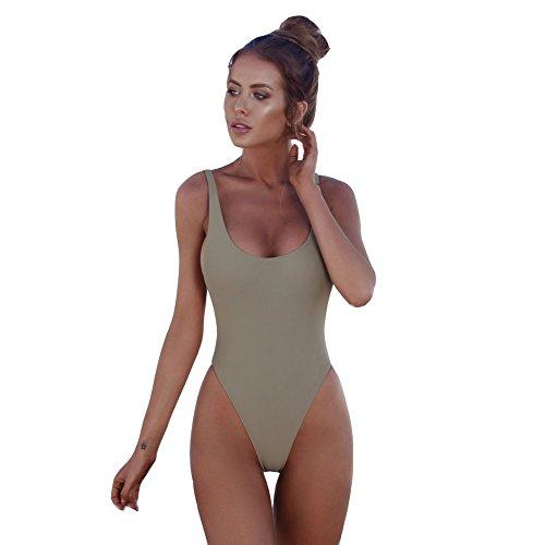 Chiyee eendelige badpak dames tankinis rugvrij badmode gewatteerde strandkleding