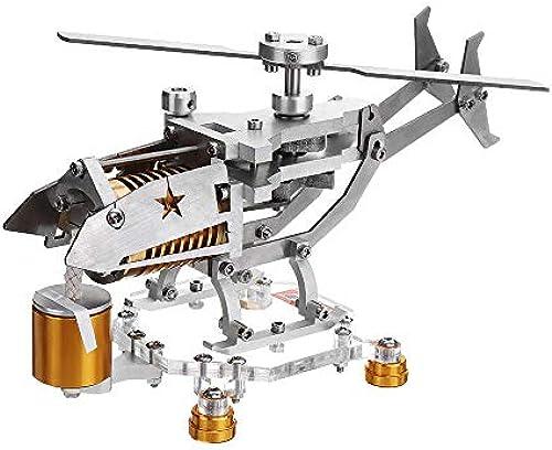 F Fityle Metall Stirlingmotor Modell Hei ftmotor, Geschenk für Freunde und Familien - Silebr + Gold