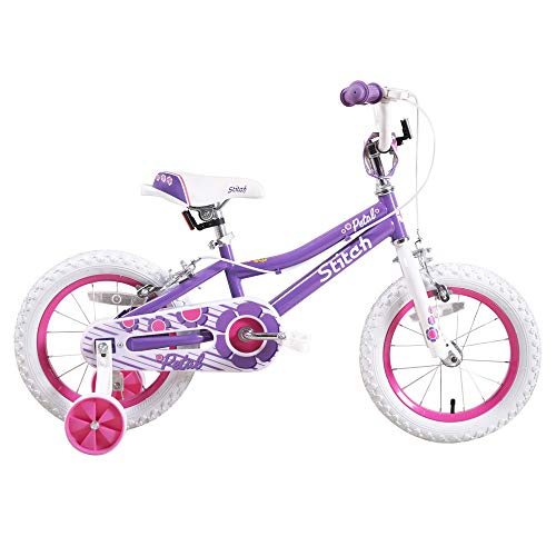 STITCH Kids Bike for 3 4 5 6 Years Girls, 16 Inch Child Bicycle with Stabilisers & Hand Brakes, 95%...