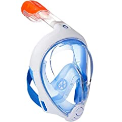 ANATOMIC DESIGN - Tribord Subea Easybreath Full face snorkel mask has been designed for surface Snorkeling (from the age of 10) EASY BREATHING - Full mask for natural breathing through the nose and/or mouth. PANORAMIC VIEW - 180° Panoramic Field of V...