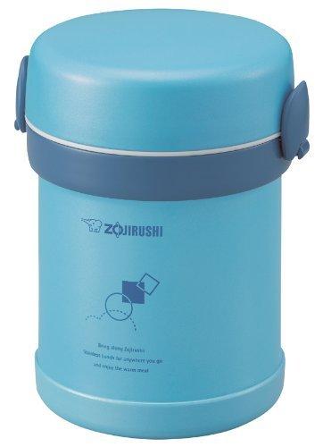 Zojirushi SL-MEE07AB Ms. Bento Stainless Lunch Jar, Aqua Blue, One size, (Renewed)