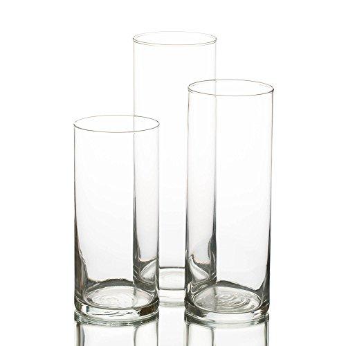 Eastland Vaso cilindrico in vetro, Set di 3