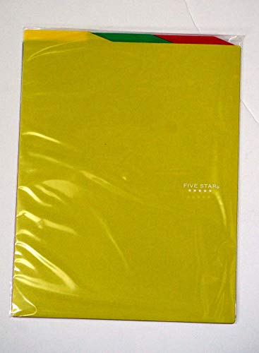 Mead Five Star 3 Tab File Folder for Notebook & Binder Red Photo #3