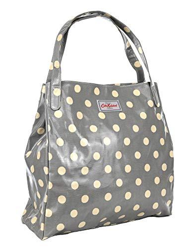 Cath Kidston - Bolsa para la compra (tela de hule, color gris
