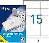 Agipa–Etiquetas universales (70x 50,8mm, color blanco, Rectangular, VE = 1