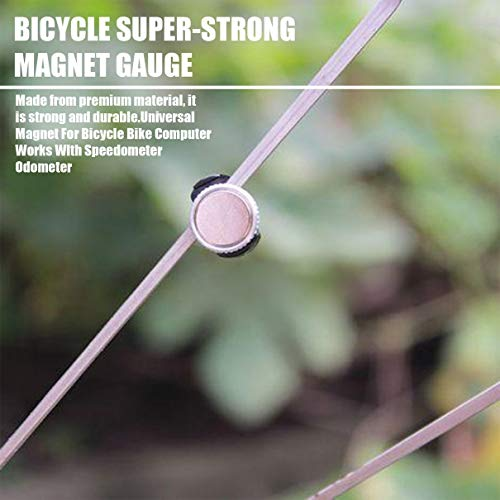 Peppydami Velocímetro Universal imán para Bicicleta Bicicleta computadora Sensor imán Ciclismo Piezas Ciclismo velocímetro odómetro